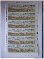 Belgie Belgique 1990 Bataille De Waterloo Slag Van Met Champ Slagveld Planche 2 Yv COB 2376 MNH ** - Feuilles Complètes