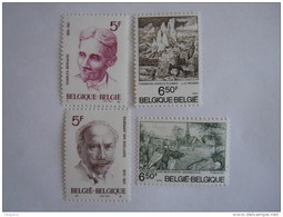 Belgie Belgique 1976 Culturelle Journaliste Charles Bernard Van Boelaere Tableaux COB 1828-1831 Yv 1823-1826 MNH ** - België