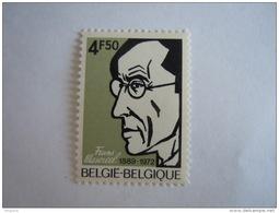 Belgie Belgique 1972 Frans Masereel Houtsnijder En Schilder Autoportrait Yv COB 1641 MNH ** - Belgien