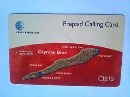 CI$15 Cayman Brac Map - Cayman Islands