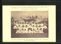 AK Iles Fidji, Pensionnat Des Filles De Chefs A Vawaci, Sous La Direction Des Soeurs Maristes - Ansichtskarten