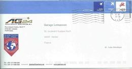 Port Payé International Exprès - Repiquage - Assurance Automobile - Lettre De Caiscais Pour La France - 1910-... République