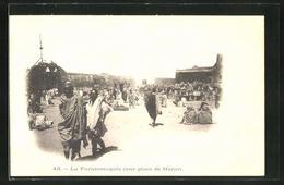 CPA Harar, La Farassmagala, Une Place, Platz Avec Einheimischen - Cartes Postales