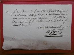 TRAITE DES NEGRES ESCLAVAGE VENTE DE DEUX JOLIS NOIRS MANUSCRIT SIGNE GIGNOT - Historische Dokumente