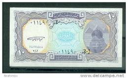 EGYPT - 10  PIASTERS SIGNATURE / M. EL GHAREEB - BLUE  - ( UNC) - Aegypten