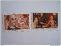 België Belgique 1994 Herdenkingen Anniversaires Guillaume Lekeu Componist Hans Memling Peintre Cob Yv 2569-2570 MNH ** - Ongebruikt