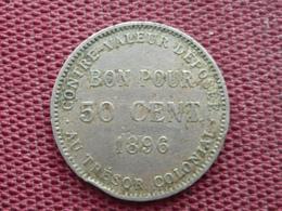 REUNION Monnaie De 50 Cts 1896 - Réunion