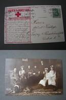 Friedrich August V. Sachsen  Familien Foto Rotes Krreuz  Aus Halle 1914 - Königshäuser