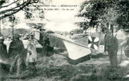 BETHANCOURT     ALBATROS ABATTU LE 24 JUILLET 1915. VU DE COTE.   THEME AVIATION - Guerre 1914-18