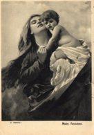 [DC7879] CPA - MADONNA - MATER PURISSIMA - D. MORELLI - Viaggiata 1940 - Old Postcard - Vergine Maria E Madonne