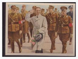 """DT- Reich (004320) Propaganda Sammelbild """"Kampf Ums Dritte Reich"""" Bild 196, Dr. Göbbels Auf Dem Flugplatz In Königsberg - Deutschland"""
