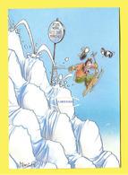 HUMOUR PISTE NOIRE Skieur Affolé LES 300 MARCHES - Humour