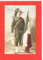 MILITARIA PATRIOTIQUE Cpa Animée Vive L ' Italie    DIX 193 / 2 - Uniformen
