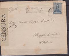 Argentina - 1923 Cover To Reggio Emilia Franked With 12 C. ( Verificato Per Censura ) - Argentina