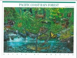 US 2000 Sheet Wildlife Of Pacific Coast Rainforest,Scott # 3378,XF MNH** ,Self Adhesive - Sheets
