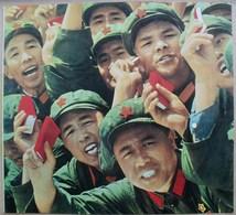 China Poster Image 26 X 24 Cm. Soldats Acclamant Mao Tsé-toung - Affiches