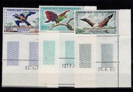 Centrafrique - Poste Aerienne YV PA 1 à 3 N** Coin Daté - Centrafricaine (République)