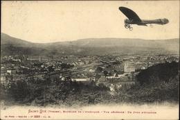 Cp Saint Dié Des Vosges Lothringen Vosges, Marraine De L'Amérique, Vue Générale, Flugzeug - Non Classés