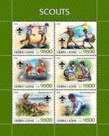 SIERRA LEONE 2018 - Scouts, Mushrooms. Official Issue. - Champignons