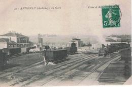 ANNONAY La Gare 1912 CPA - Annonay