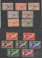 NOUVELLE CALÉDONIE P.A. Années 1942/43 N°Y/T : 39/52**/* Côte: 18,00 € - Poste Aérienne