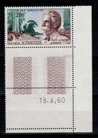 Gabon - Poste Aerienne YV PA 1 N** Coin Daté Docteur Schweitzer - Gabon (1960-...)