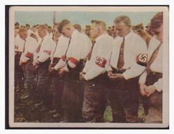 """DT- Reich (004358) Propaganda Sammelbild """"Kampf Ums Dritte Reich"""" Bild 35, Feldgottesdienst - Deutschland"""