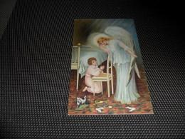 Enfant ( 2101 )   Kind  Ange Gardien  Engel  Beschermengel - Carte Gaufrée  Reliëf - Anges