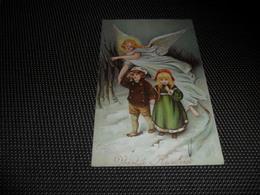 Enfant ( 2103 )   Kind  Ange Gardien  Engel  Beschermengel - Carte Gaufrée  Reliëf - Anges