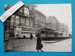 Berlin, Strassenbahn, Bus, Steglitz?, 1954 - Steglitz