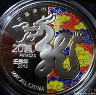 Macau. 2012 Year Of The Dragon. Silver . RARE - Macao