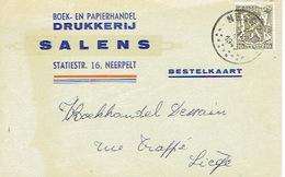 PK Publicitaire - NEERPELT 1947 - SALENS - Drukkerij - Boek- En Papierhandel - Neerpelt