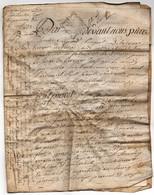 Acte Notarial Notaire Fouquet De La Tour Vente Briouze Manuscrit Sur Parchemin Cachet Généralité D'Alençon 6 Pages 1775 - Manuscripts
