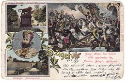 #8876 Hungary, Szigetvar Litho Postcard Multiview Mailed 1902: Zrinyi Miklos - Croatian And Hungarian Military Leader - Hongrie