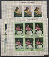 Burundi 1968 Paintings 6v 6x In Sheetlets Used Cto (F7588) - 1962-69: Afgestempeld