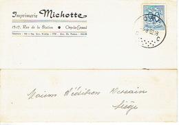 CP Publicitaire ORP-LE-GRAND 1952 - Imprimerie MICHOTTE - Orp-Jauche