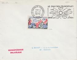 Le Chambon Feugerolles 1970 - Flamme Fleur - Blumen Flower - Marcophilie (Lettres)