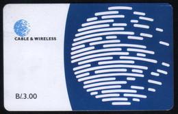 PANAMA PHONECARD C & W LOGO THIRD ISSUE CHIP GEM3 USED B/3.00 - Panama
