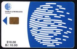 PAN-05 PANAMA PHONECARD C & W LOGO SECOND Issue CHIP GEM3 USED B/10.00 - Panama