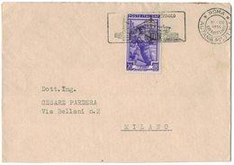 ZN61   Storia Postale - Annullo Autoambulante PP.TT. N.1 Anno Santo 1950 - Italia Lavoro £.20 Isolato - 1946-60: Marcofilie