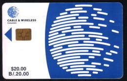 PAN-06 PANAMA PHONECARD C & W LOGO SECOND Issue CHIP GEM3 USED B/20.00 - Panama