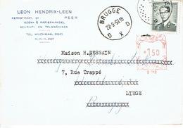PK Publicitaire PEER 1959 - LEON HENDRIX-LEEN - Boek- En Papierhandel - Maaseik