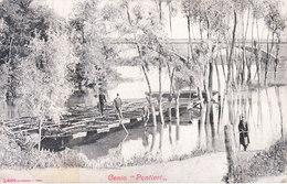 ITALIA - Genio - Pontieri Sul Fiume PO (Polesella Sicuramente), Animata, 1900 Circa - 2017-272 - Italia
