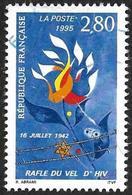 FRANCE 1995  - Y&T 2965  - Rafle Du Vel D'Hiv -  Oblitéré - Frankreich