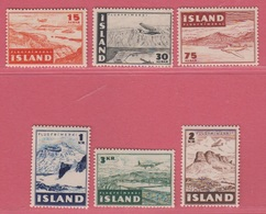 1947 ** (sans Charn., MNH, Postfrish)  Yv  PA 21/6Mi  241/6FA  274/9 - 1944-... Republique