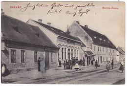 #8878 Slovakia, Sasvar, Sastin Postcard Mailed 1913: Baross Street, Animated - Slovakia