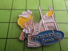 510e Pin's Pins / Beau Et Rare / THEME SPORTS : RUGBY CITRON PASCUAL SPANIA - Rugby