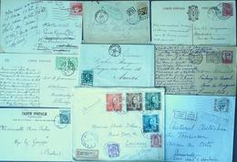 BELGIQUE - Collection De 32 Lettres Et CP - A ETUDIER - Collections