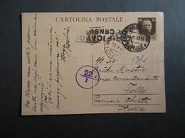 WW2 - ITALY OCCUPATION OF MONTENEGRO 1942- -PERASTO - CATTARO - TOOLO CHIETI- CENSURA- 1942 - Montenegro