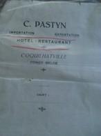 Twee Oude Brieven 1921 - 1919  C. PASTYN  Hotel - Rest .    COQUIL HATVILLE CONGO - BELGE - Mededelingen